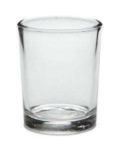 Waxinelicht, H: 6,5 cm, d: 4,5-5,5 cm, 120 ml, 12 stuk/ 1 karton