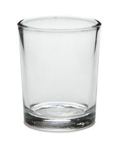 Waxinelicht, H: 6,5 cm, d: 4,5 cm, 4 stuk/ 1 doos