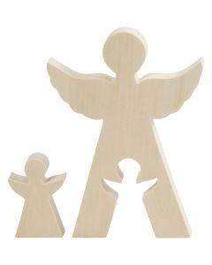 2in1 Figuren, engel, H: 7,8+20 cm, B: 4,5+14,3 cm, 1 set