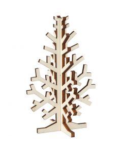 Kerstboom, H: 12 cm, B: 7,5 cm, 1 stuk