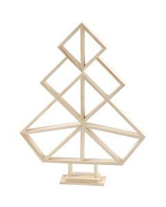 Geometrische kerstboom van hout, H: 40 cm, B: 31 cm, 1 stuk