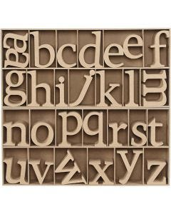 Letter, H: 8 cm, dikte 2 cm, 112 stuk/ 1 doos