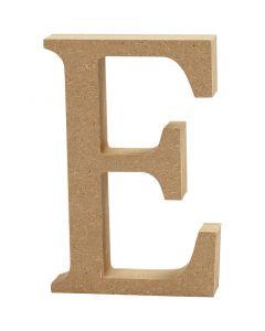 Letter, E, H: 13 cm, dikte 2 cm, 1 stuk