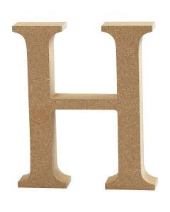 Letter, H, H: 13 cm, dikte 2 cm, 1 stuk