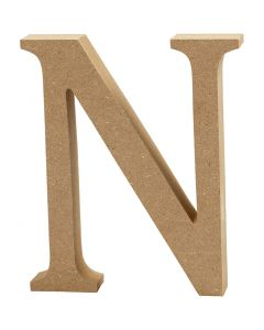 Letter, N, H: 13 cm, dikte 2 cm, 1 stuk