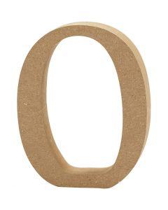 Letter, O, H: 13 cm, dikte 2 cm, 1 stuk