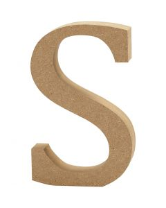 Letter, S, H: 13 cm, dikte 2 cm, 1 stuk