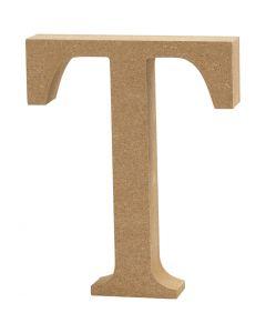 Letter, T, H: 13 cm, dikte 2 cm, 1 stuk