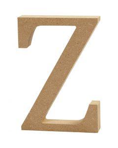 Letter, Z, H: 13 cm, dikte 2 cm, 1 stuk