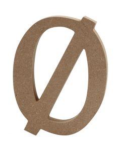 Letter, Ø, H: 13 cm, dikte 2 cm, 1 stuk