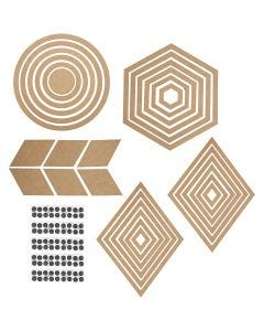 Muur decoraties, H: 5,5-29,5 cm, Inhoud kan variëren , 10 set/ 1 doos
