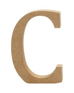 Letter, C, H: 8 cm, dikte 1,5 cm, 1 stuk