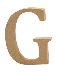 Letter, G, H: 8 cm, dikte 1,5 cm, 1 stuk