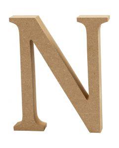 Letter, N, H: 8 cm, dikte 1,5 cm, 1 stuk