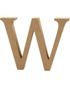 Letter, W, H: 8 cm, dikte 1,5 cm, 1 stuk
