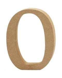 Cijfer, 0, H: 8 cm, dikte 1,5 cm, 1 stuk