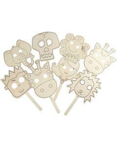 Maskers, L: 35 cm, B: 22 cm, dikte 2 mm, 16 stuk/ 1 doos