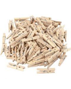 Wasknijpers, L: 30 mm, B: 3 mm, 100 stuk/ 1 doos