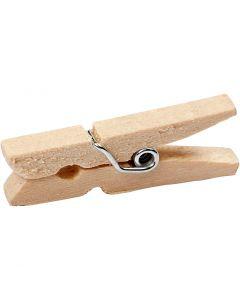 Wasknijpers, L: 30 mm, B: 3 mm, 30 stuk/ 1 doos