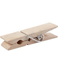 Wasknijpers, L: 7,2 cm, B: 2 cm, 10 stuk/ 1 doos