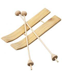 Ski met stokken, afm 11x3,8 cm, 3 paar/ 1 doos