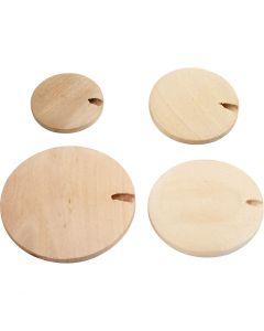 Houten knoop/kraal, d: 20-35 mm, 320 stuk/ 1 doos