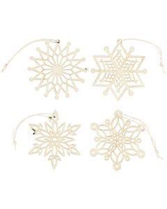 Ornamenten, d: 7 cm, dikte 0,3 mm, 8 stuk/ 1 doos