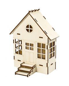 Huis, H: 24 cm, B: 19 cm, 1 stuk