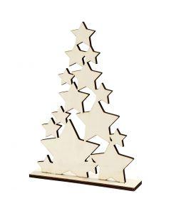 Kerstboom, H: 29,8 cm, B: 21,5 cm, 1 stuk