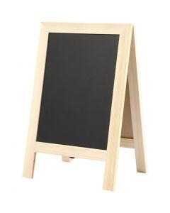 Sandwich krijtbord, H: 30 cm, B: 19 cm, 1 stuk