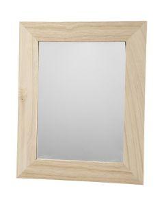 Lijst met spiegel, afm 26x32 cm, 1 stuk