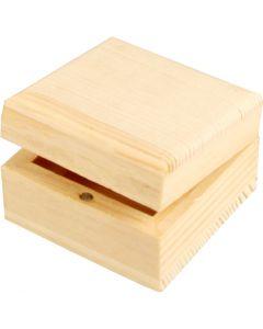 Sieradendoos, afm 6x6x3,5 cm, 1 stuk