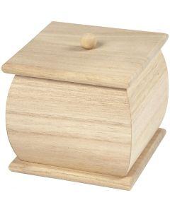 Mini doos met deksel, afm 7,5x7,5x8 cm, 1 stuk
