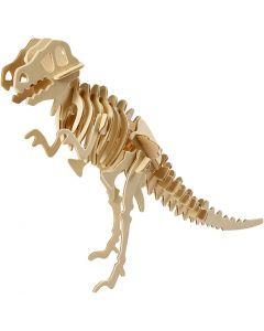 3D Houten constructie set, dinosaurus, afm 33x8x23 cm, 1 stuk