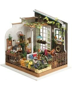 DIY Miniatuur kamer, H: 21 cm, B: 19,5 cm, 1 stuk