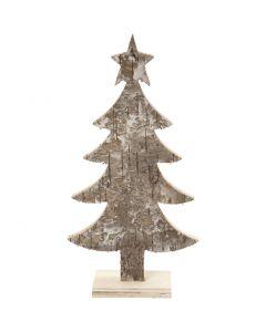 Kerstboom, H: 18 cm, B: 9 cm, 1 stuk