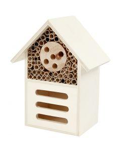 Insecten- en vlinder hotel, H: 18 cm, B: 14 cm, 1 stuk