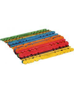 L: 11,4 cm, B: 10 mm, diverse kleuren, 30 stuk/ 1 doos