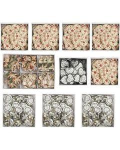 Houten figuren, afm 20-50 mm, Inhoud kan variëren , 10 doos/ 1 karton
