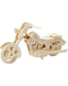 3D Puzzel, motorfiets, afm 19x9x9 cm, 1 stuk