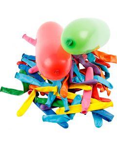 Ballonnen, lang, L: 51+58 cm, 100 stuk/ 1 doos