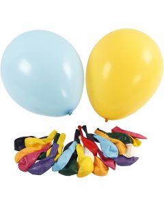 Ballonnen, d: 43 cm, diverse kleuren, 50 stuk/ 1 doos