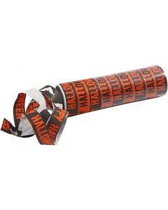 Serpentines, zwart, oranje, 2 rol/ 1 doos