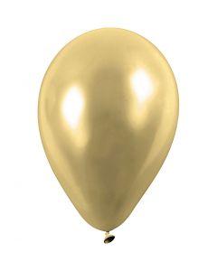 Ballonnen, rond, d: 23 cm, goud, 8 stuk/ 1 doos
