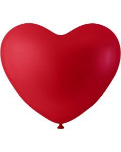 Ballonnen, hart, rood, 8 stuk/ 1 doos