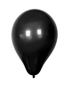 Ballonnen, d: 23 cm, zwart, 10 stuk/ 1 doos