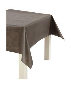 Tafelkleed van imitatiestof, B: 125 cm, 70 gr, bruin, 10 m/ 1 rol