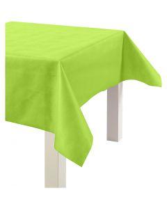 Tafelkleed van imitatiestof, B: 125 cm, 70 gr, lime groen, 10 m/ 1 rol