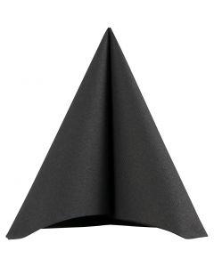 Servetten, afm 40x40 cm, 60 gr, zwart, 20 stuk/ 1 doos