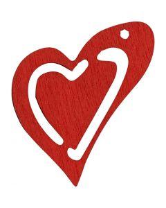 Hart, afm 25x22 mm, rood, 20 stuk/ 1 doos
